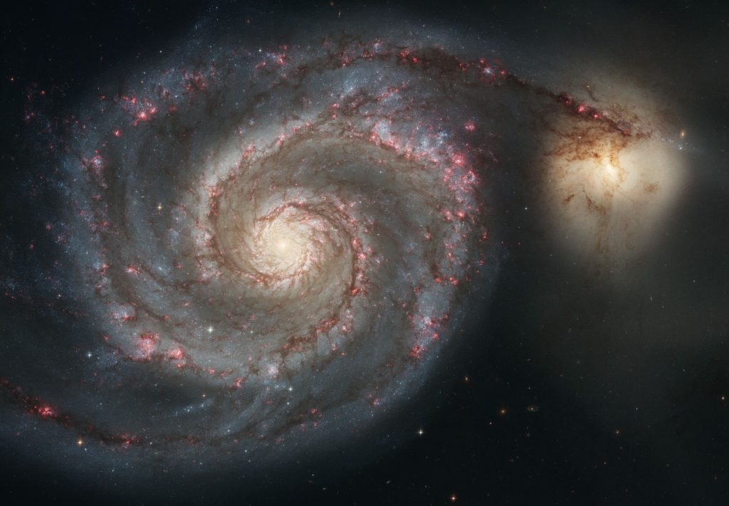 Galaxis M51 - NASA, ESA, S. Beckwith (STScI), and The Hubble Heritage Team STScI/AURA) - http://www.spacetelescope.org/images/heic0506a/ ([cdn.spacetelescope.org/archives/images/screen/heic0506a.jpg direct link])
